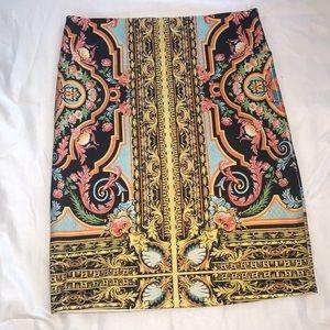 Forever 21 baroque print skirt